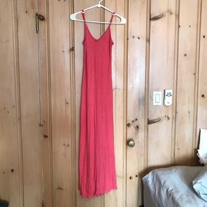 Like-new✨coral fitted maxi dress— sz S